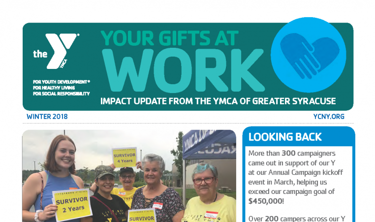 Image of Winter 2018 donor newsletter